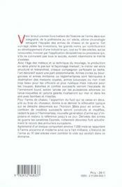 Lhistoire De Larme Au Fil Des Siecles - 4ème de couverture - Format classique