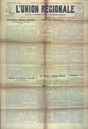 Union Regionale (L') N°1216 du 20/12/1941 - Couverture - Format classique