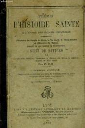 Precis D'Histoire Sainte A L'Usage Des Ecoles Primaires - Couverture - Format classique