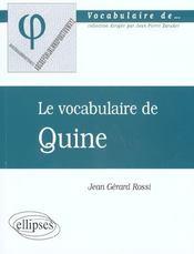 Quine - Intérieur - Format classique