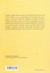 Enseigner L'Histoire Litteraire - 4ème de couverture - Format classique