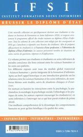 Les Sciences Humaines Au Service Des Soins Infirmiers - 4ème de couverture - Format classique