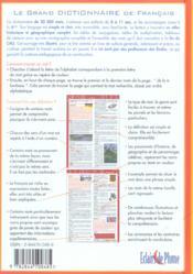 Le grand dictionnaire de français - 4ème de couverture - Format classique