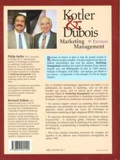 Marketing management - 4ème de couverture - Format classique