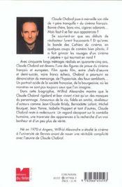 Claude Chabrol ; La Traversee Des Apparences - 4ème de couverture - Format classique