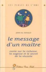 Message d'un maitre (le) - Couverture - Format classique