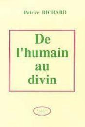 De L'Humain Au Divin - Couverture - Format classique