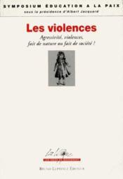 Les violences - Couverture - Format classique