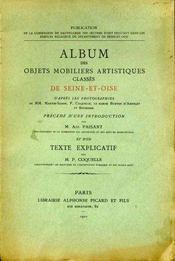 Album des objets mobiliers artistiques classés de Seine-et-Oise. - Intérieur - Format classique