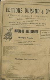 Edition Classique A. Durand & Fils - Couverture - Format classique