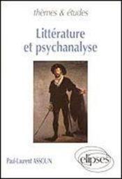 Litterature Et Psychanalyse - Couverture - Format classique