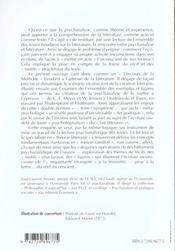 Litterature Et Psychanalyse - 4ème de couverture - Format classique