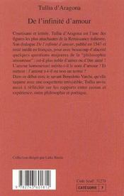De l'infinité d'amour - 4ème de couverture - Format classique