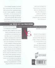Voix Et La Machine - 4ème de couverture - Format classique