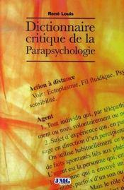 Dictionnaire critique de la parapsychologie - Intérieur - Format classique