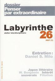 Labyrinthe - Atelier Interdisciplinaire T.26 ; Penser Par Extraordinaire - Intérieur - Format classique