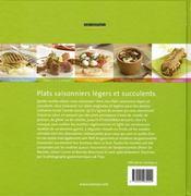 Plats saisonniers légers et succulents - 4ème de couverture - Format classique