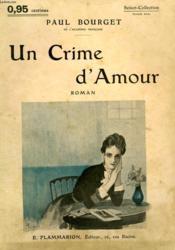 Un Crime D'Amour. Collection : Select Collection N° 121 - Couverture - Format classique