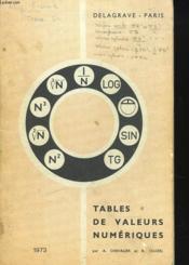 Tables De Valeurs Numeriques - Couverture - Format classique