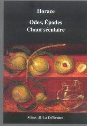Odes, épodes, chant séculaire - Intérieur - Format classique