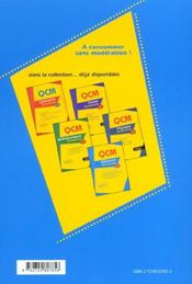 Qcm Allemand Terminales Toutes Series 400 Qcm Corriges Et Commentes Outils D'Evaluation - 4ème de couverture - Format classique