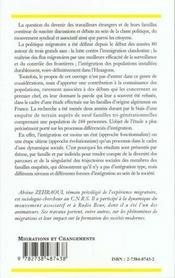 Familles D'Origine Algerienne En France ; Etude Sociologique Des Processus D'Integration - 4ème de couverture - Format classique
