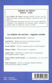La relation de service ; regards croisés - 4ème de couverture - Format classique