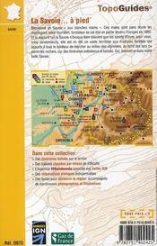 La Savoie à pied ; 73 - pr - d073 - 4ème de couverture - Format classique