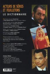 Dictionnaire des acteurs de séries et de feuilletons - 4ème de couverture - Format classique