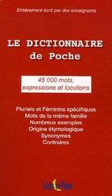 Le dictionnaire de poche - Intérieur - Format classique