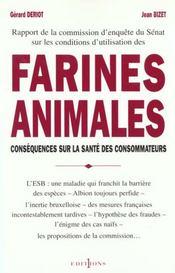 Farines Animales ; Rapport Senat - Intérieur - Format classique