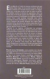 Histoire Des Sciences - 4ème de couverture - Format classique