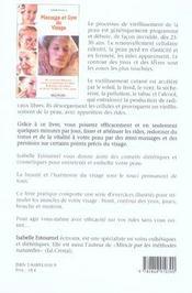 Massage et gym du visage - 4ème de couverture - Format classique