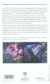 C.S. Lewis Ou La Vocation Du Best-Seller - 4ème de couverture - Format classique