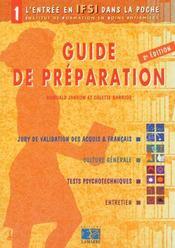 Guide De Preparation Tome 1 - Intérieur - Format classique
