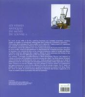 Les Verres Antiques Du Musee Du Louvre - 4ème de couverture - Format classique