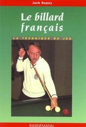 Billard Francais - Intérieur - Format classique