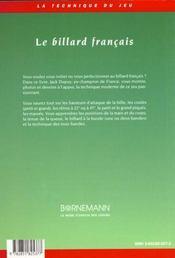 Billard Francais - 4ème de couverture - Format classique