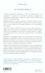 Le General Moreau - 4ème de couverture - Format classique
