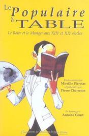 Le Populaire A Table Le Boire Et Le Manger - Intérieur - Format classique