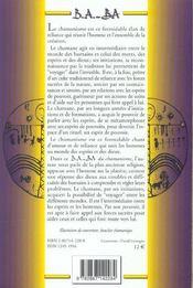 Chamanisme - 4ème de couverture - Format classique