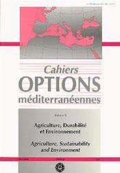 Agriculture ,durabilite et environnement - Couverture - Format classique