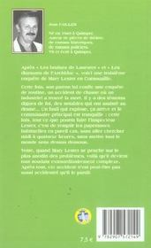 Mary Lester T.3 ; La Mort Au Bord De L'Etang - 4ème de couverture - Format classique