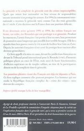 Imprescriptible : L'Implication Francaise Dans Le Genocide Tutsi Portee Devant Les Tribunaux - 4ème de couverture - Format classique