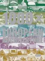 Vente livre :  1000 x European architecture  - Collectif