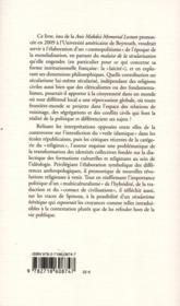 Saeculum - 4ème de couverture - Format classique