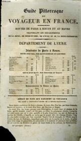 Guide Pittoresque Du Voyageur En France - Departement De L'Eure - Couverture - Format classique