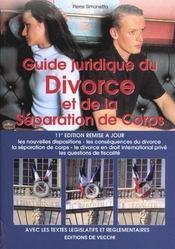 Guide Juridique Du Divorce Et De La Separation - Intérieur - Format classique