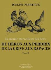 Du héron aux perdrix, de la grive aux rapaces t.2 - Couverture - Format classique