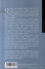 Maximilien d'autriche - 4ème de couverture - Format classique